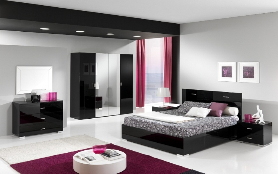 chambre d adulte moderne coucher u003e chambre complte. Black Bedroom Furniture Sets. Home Design Ideas